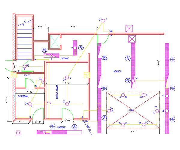 electrical plan sample, wiring diagram